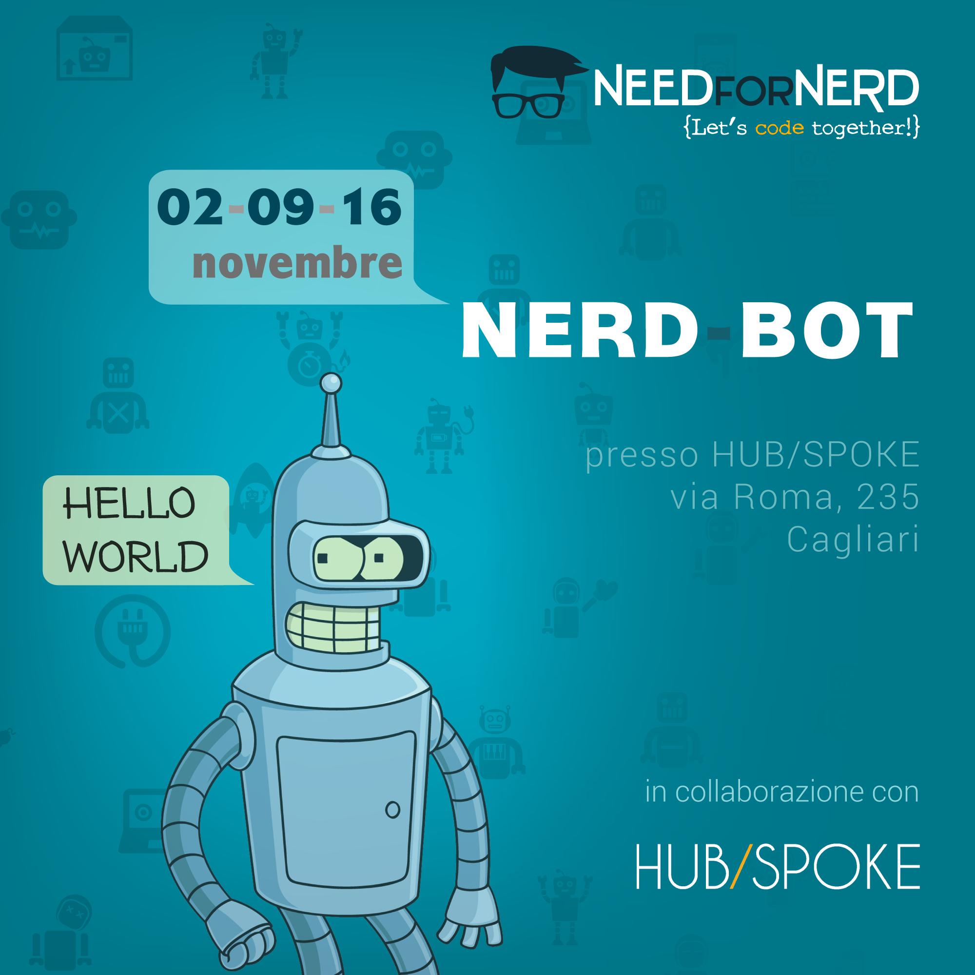 Nerd bot: Corso per creare di Bot Telegram a Cagliari