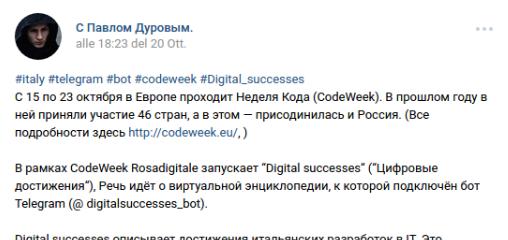 Dalla Russia una soddisfazione targata Pavel Durov