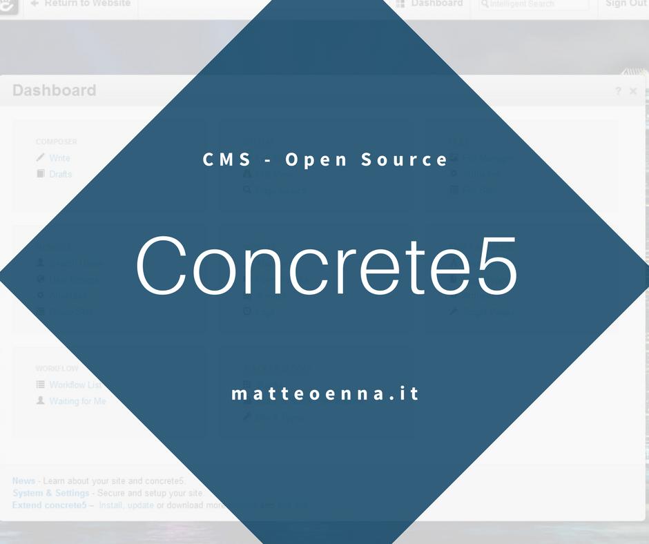 Concrete5, alla scoperta di questo CMS