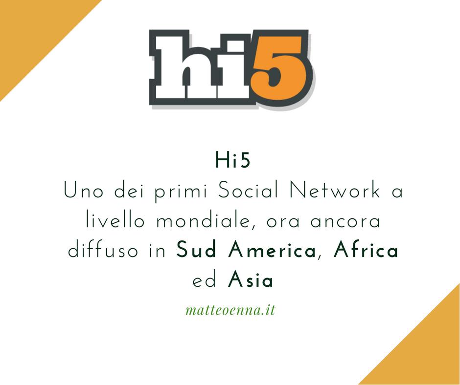 Hi5, un Social Network tra Sud America e Africa