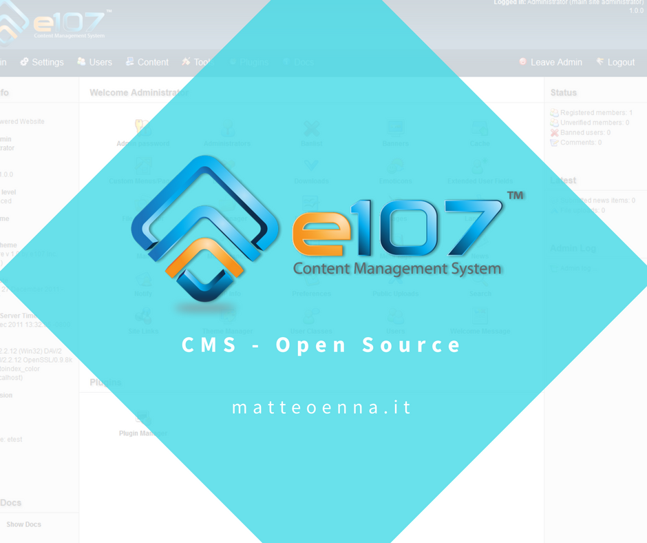 e107: un CMS Open Source completo