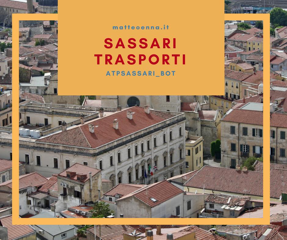 Sassari Trasporti, il trasporto urbano in un bot Telegram
