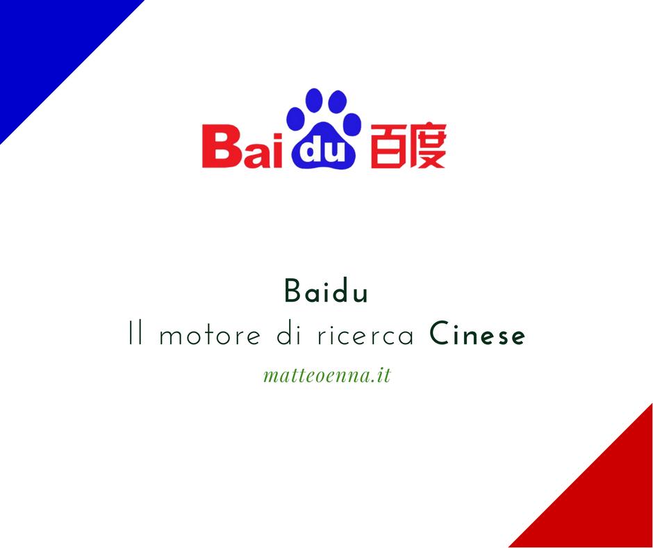 Baidu, il motore di ricerca più usato in Cina