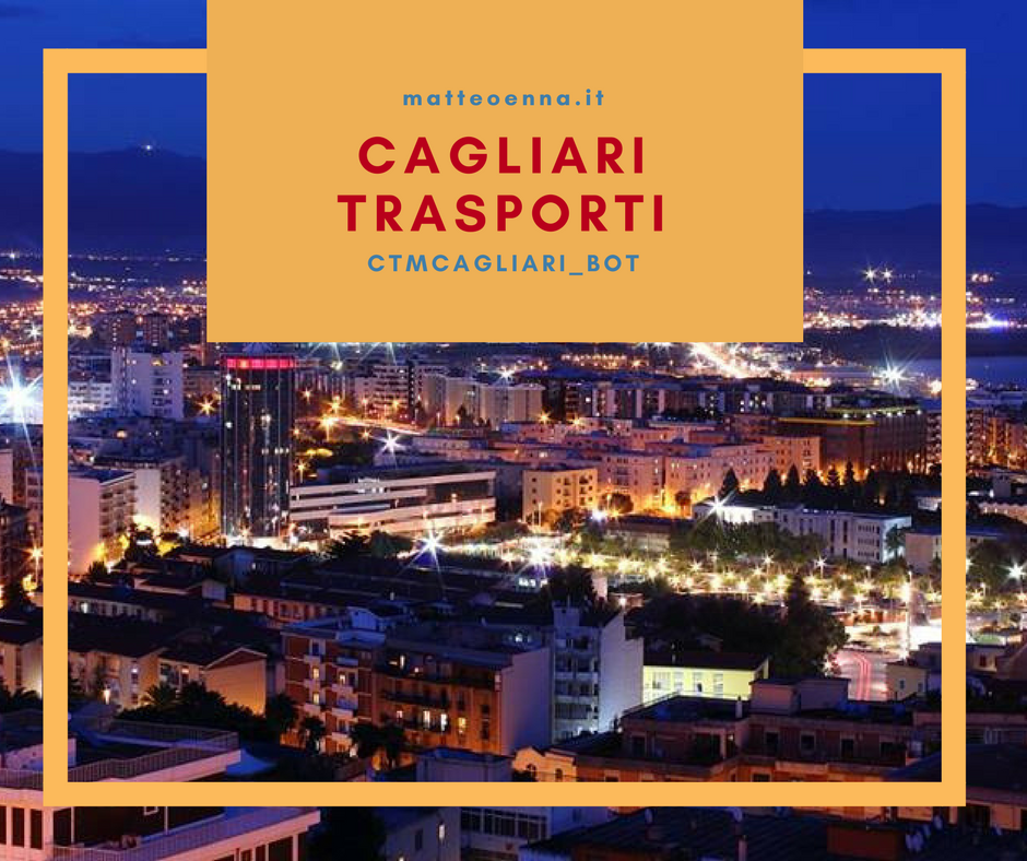 I mezzi pubblici in un Bot Telegram: Cagliari Trasporti