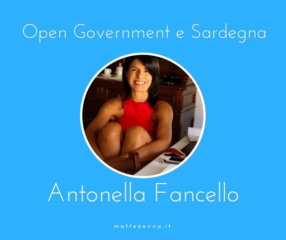 Intervista ad Antonella Fancello, Open Government e Sardegna