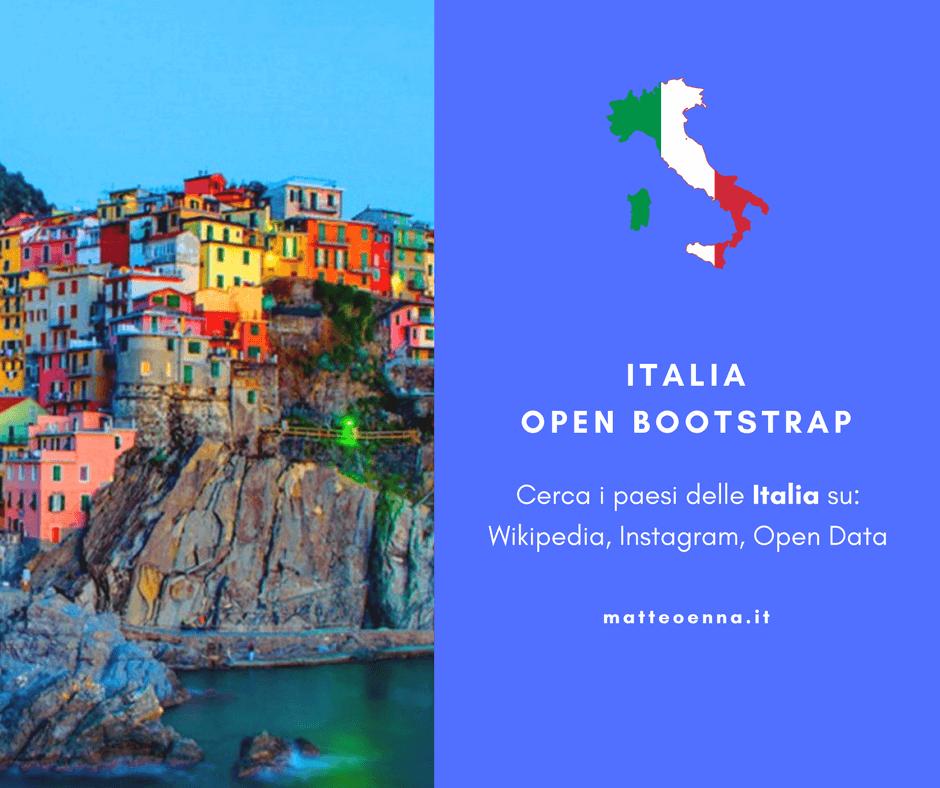 Il progetto libero: Italia Open Bootstrap