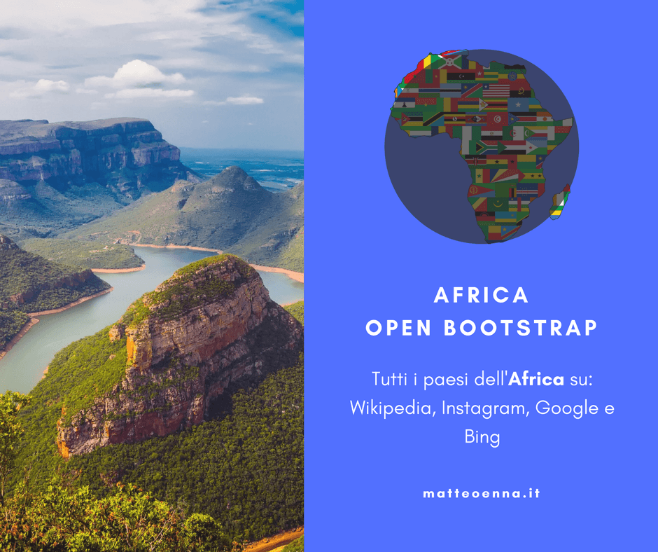Africa Open Bootstrap, tutti i paesi in un sito