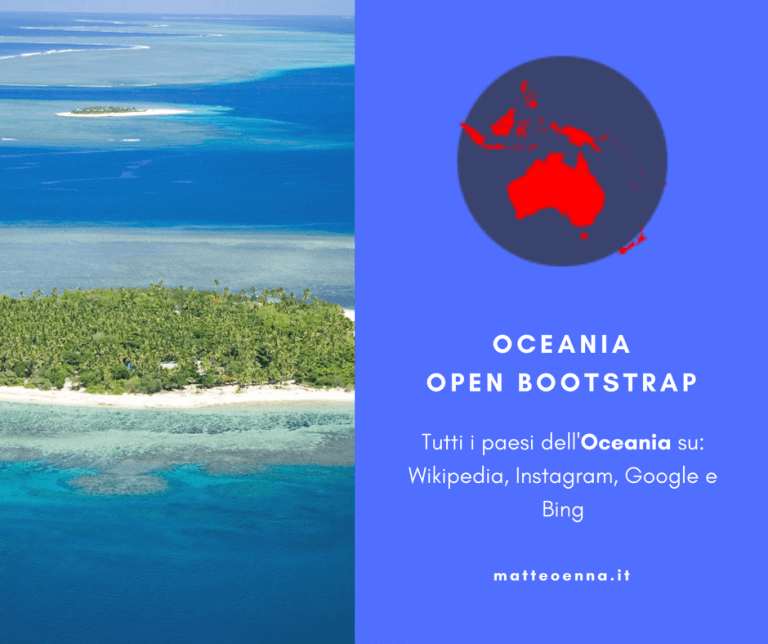 Oceania Open Bootstrap