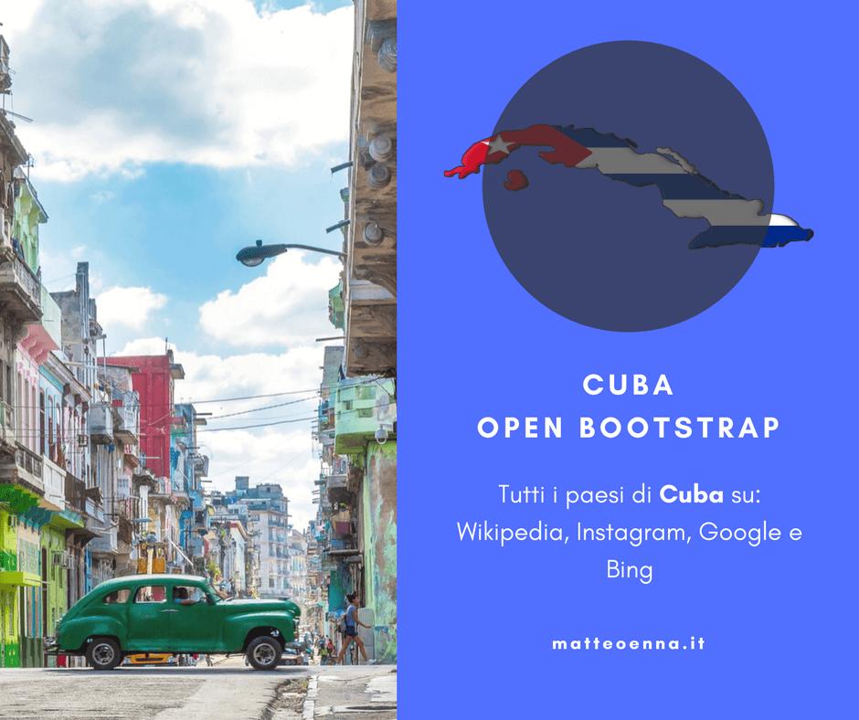Continua il tour Open Source: Cuba Open Bootstrap