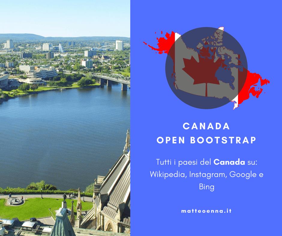 Canada Open Bootstrap, una nuova tappa in America