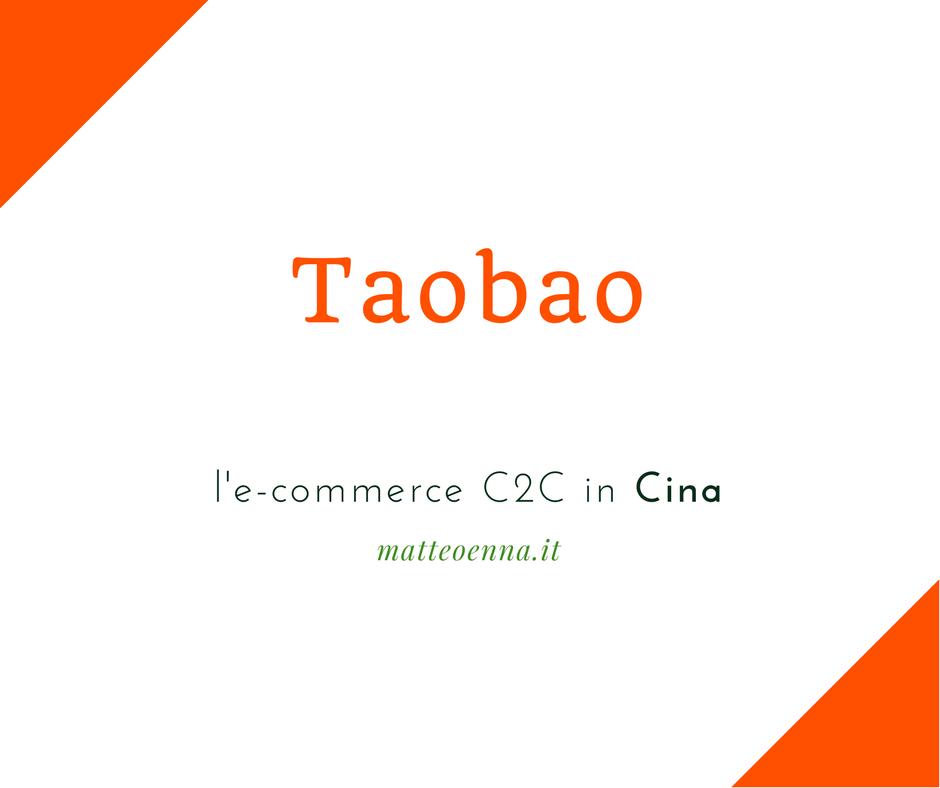 Taobao: l'e-commerce c2c in Cina di Alibaba Group