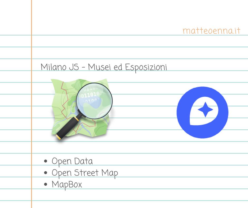 MapBox e OpenStreetMap: Milano musei e sedi espositive