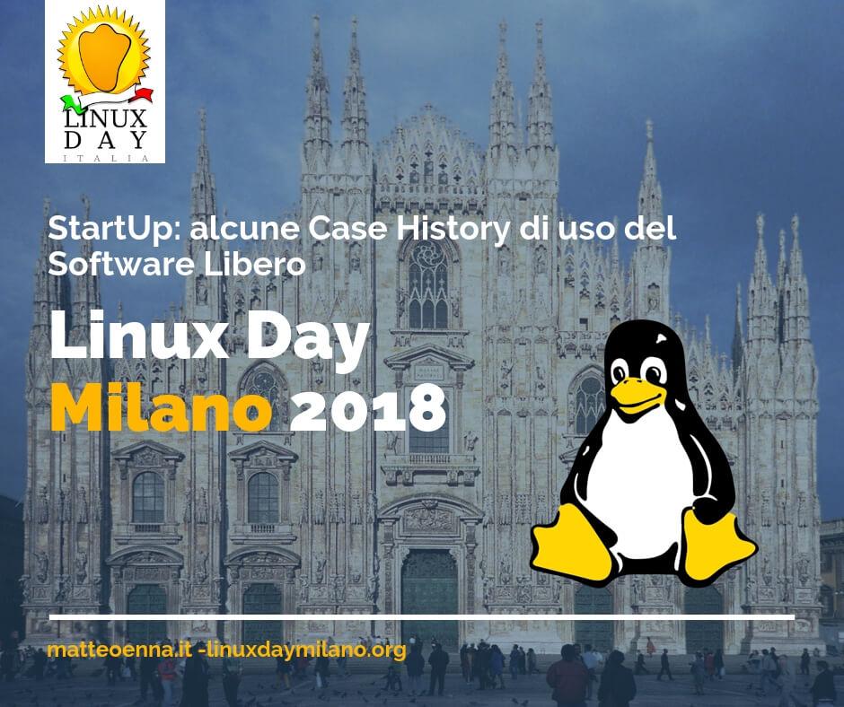 Il 27 Ottobre 2018: StartUp e Software Libero al Linux Day di Milano