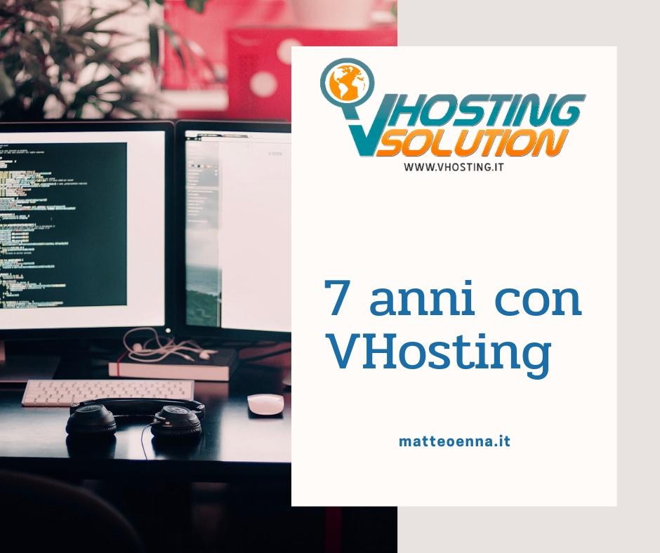 Hosting: 7 anni con VHosting