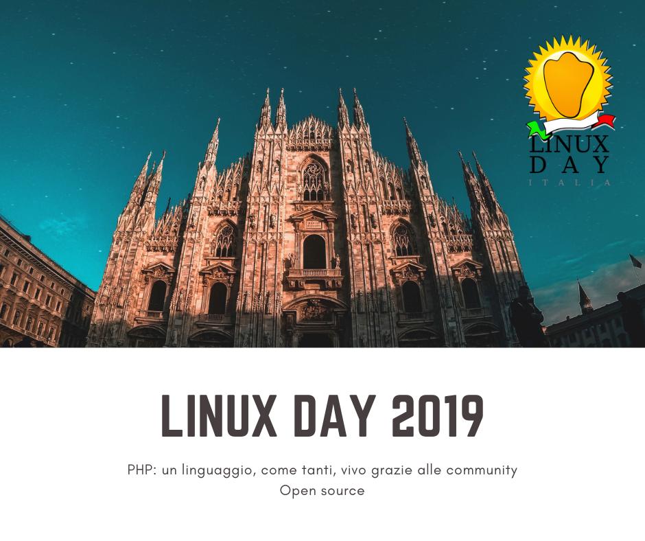 Linux Day 2019… Secondo voi potevo mancare?