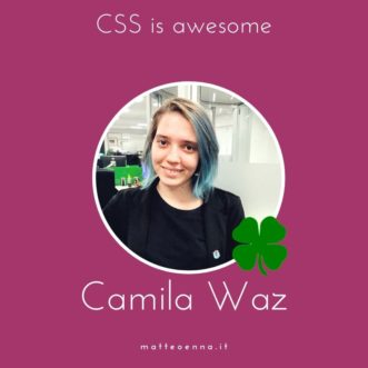 Camila Waz: Css is Awesome